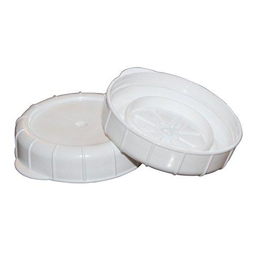 Glas Milch Flasche Kappen 48mm 48 mm weiß
