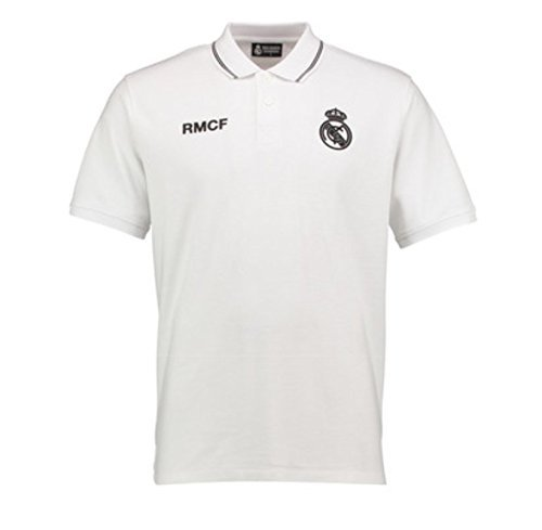 Polo Oficial REAL MADRID CF Blanco Tallaje Adulto