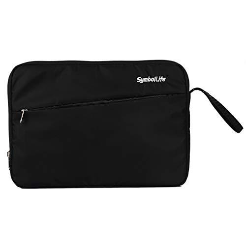 SelfLove Funda Protectora para portátil para Tableta portátil Bolsa Protectora Bolsillo para Accesorios Compatible con MacBook Pro/Air/DELL/Lenovo/HP/Samsung (12 Inch, Negro)