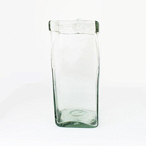 Mitienda decoratieve ovaas van glas om op te hangen 24 cm, decoratieve glas, vaas - handgemaakt - raamdecoratie cadeau-idee