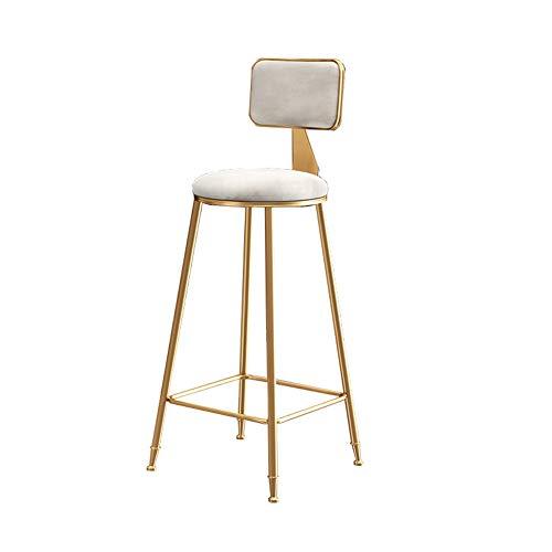 Miao. Nordic eenvoudige gouden barstoel rugleuning hoge kruk ondernet rode barkruk vooraan restaurant lounge stoel