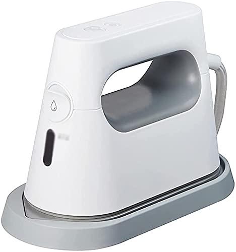 Ropa de vapor para ropa de mano Plaza de mano Máquina de planchar Hierro de vapor Hogar Pequeña Ropa portátil Plancha Dormitorio Máquina de planchar (Color: Blanco, Tamaño: 17.8x7.8x12.3cm)