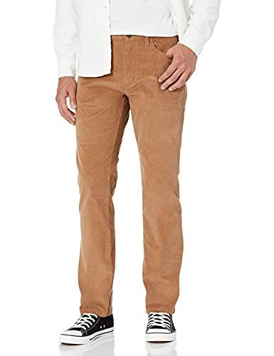 Goodthreads Men's Straight-Fit 5 Pocket Corduroy Pant, Khaki, 36W x...