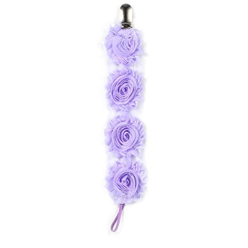 Dauerhaft Chaîne de tétine pour bébé, Multifonction et Multicolore, Joli Cadeau pour bébé Fille Durable.(Light Purple)