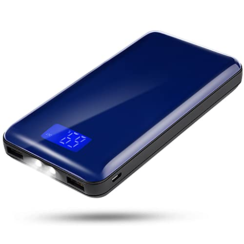 20000mah Mobile Power Supply with Dual USB Port Output, Portable Charger with LCD Display, Compatible with iPhone 11/11 Pro/XS/XS max/XR, Samsung Galaxy note9