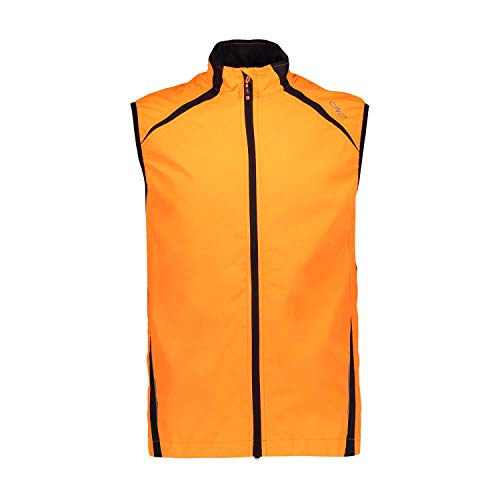 CMP Herren Gilet Unlimitech Leggero E Antivento Weste, Flash Orange, 48