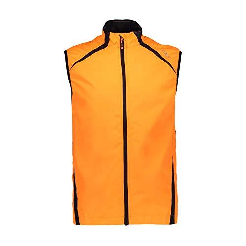 CMP Gilet Unlimitech Leggero E Antivento, Uomo, Flash Orange, 48