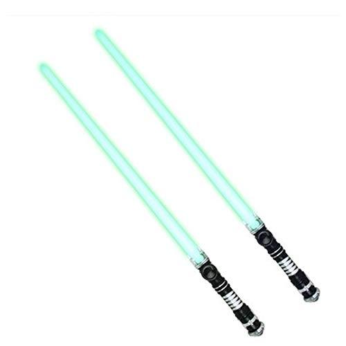Xbd 2 Piezas de Sable Láser,Espada Laser Star Wars,Sable de Luz Electrónico,con Efectos de luz,aptas para Juegos de rol,atrezzo de decoración de Disfraces Festivos
