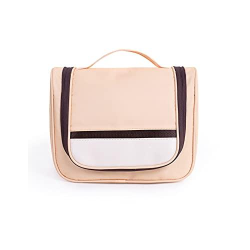 LXFENG Bolso cosmético de Viaje Bolsa de cosmética Grande Caja de Almacenamiento Adecuada para Damas y niñas, Bolso cosmético PU de Cuero Impermeable (Seis Colores) Pink-21x26cm