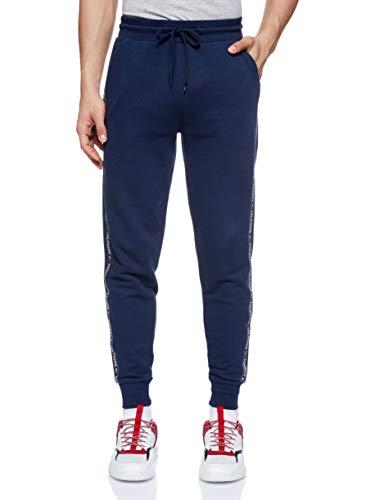 Tommy Hilfiger Repeat Logo Tape Joggers Pantalones Deportivos, Azul (Navy Blazer), Medium para Hombre