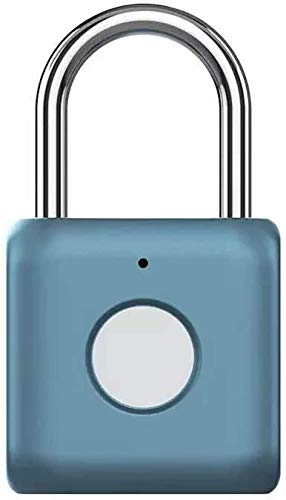 ZouYongKang Pastillo de huellas digitales ThumbPrint Lock USB Recargable IP65 Impermeable Ideal...