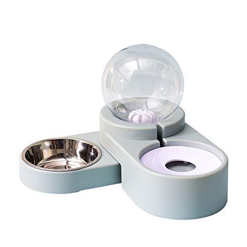 2in1 Automatischer Futterautomat Wasserspender für Katzen Hunde (1,8L), Anti-Überlauf, rutschfest, Auslaufsicherer, Futterspender