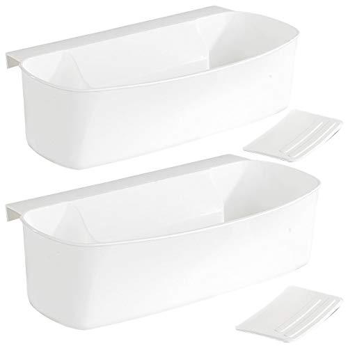 Rosenstein & Söhne Auffangschale Küche: 2er-Set Auffangschale für Küchenabfälle, mit Spachtel (Müllbehälter für Schublade)