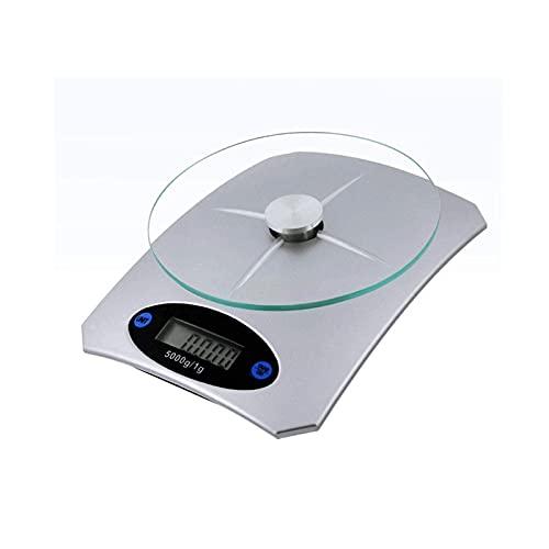 WGLL Rango de Escala de Cocina Digital Pequeña Escala de Cocina 5kg / 1g, Mini Alimentos básicas electrónicas, Escala de cocción de Alta precisión, Escala de Bolsillo con Pantalla LCD