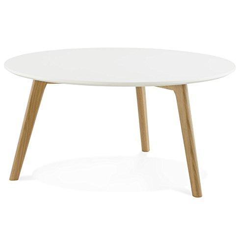 Alterego - Table Basse de Salon Ronde 'KOFY' Style scandinave