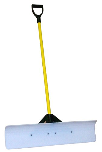 J&M JM Enterprises TV206972 Snowplow Snow Pusher, 36', White