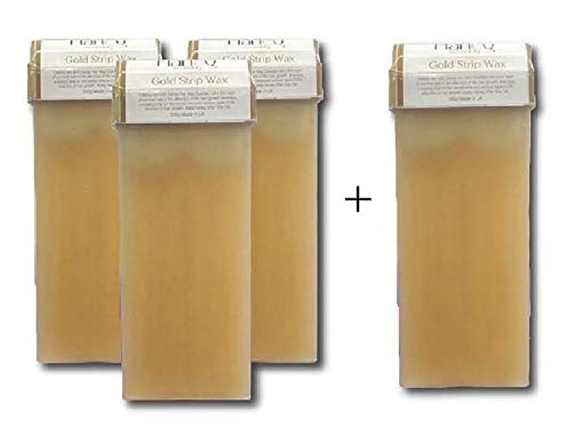 エッセンスバランスのとれた肺炎セルフ脱毛 ゴールドワックス 100g 3本セット+もれなく1本プレゼント ブラジリアンワックス メンズ脱毛