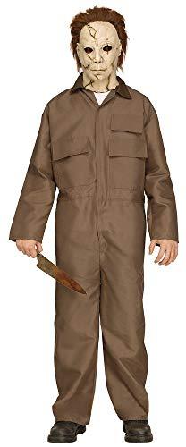 shoperama Disfraz de Halloween de Michael Myers para adolescentes, incluye máscara con pelo de película terror, asesino de serie