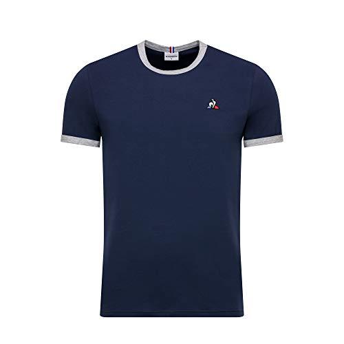 Le Coq Sportif ESS tee SS N°4 M Camiseta, Hombre, Blues/gric chiné, L