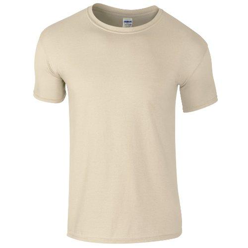 Gildan Men's Softstyle Ringspun T-shirt - Large - Sand