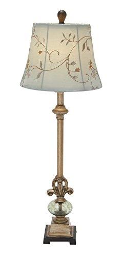 "Deco 79 44933 Ps Metal Glass Ball Buffet Lamp 35"" H"