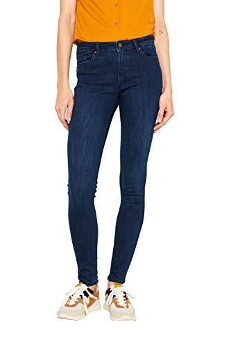 ESPRIT Damen 999Ee1B801 Skinny Jeans, Blau (Blue Dark Wash 901), W32/L32 (Herstellergröße: 32/32)