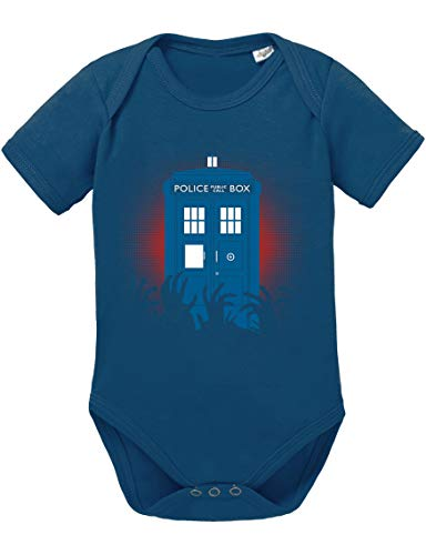 Dr Zombie Doctor Baby Strampler Who Bio Baumwolle Body Jungen & Mädchen 0-12 Monate Tv Serie, Größe:62/2-3 Monate, Farbe:Dunkel Blau