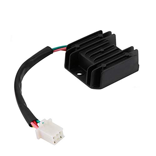 12V Voltage Regulator Rectifier 4 Wires for GY6 125cc 150cc ATV Dirt Bike Go Kart Moped and Scooter