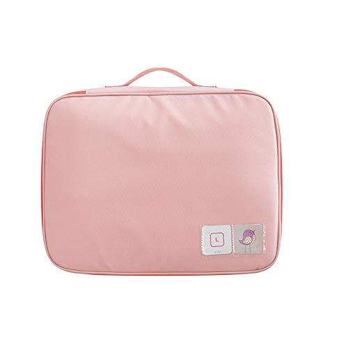 YAOUYYYSN Bolsa de almacenamiento de viaje gruesa para equipaje, bolsa de almacenamiento portátil para viajes, ropa interior, clasificación, código rosa