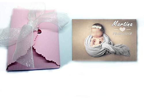 Imanes personalizados con foto, detalles de bautizo 50 unidades 6x7 cm