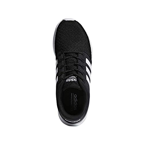 adidas Women's Cloudfoam QT Racer Sneaker, Black/White/Carbon, 9 M US 6