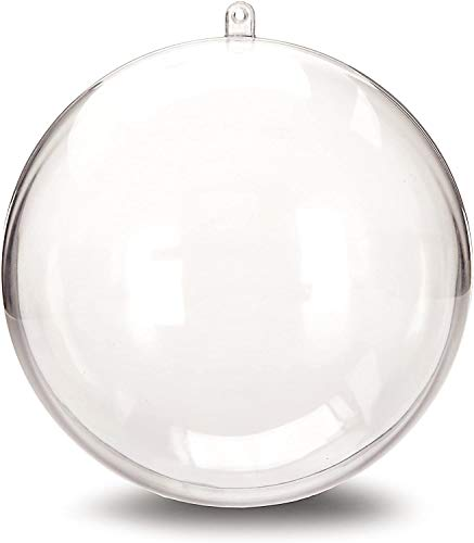 StillCool Clear Ornaments Plastic Fillable Ball for Christmas Ornament Baubles - Pack of 12 (80mm - Carton Packaging)