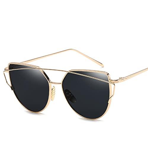 YIFEID Gafas De Sol Moda Gato Ojo Vintage Rosa Espejo De Oro Gafas De Sol Para Mujeres Lentes Planas Gafas De Sol Moda Femenina Moda Hombres Y Gafas De Sol