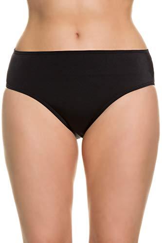 Ulla Popken Damen Bikinislip, große Größen Bikinihose, Schwarz (Schwarz 69179810), 62