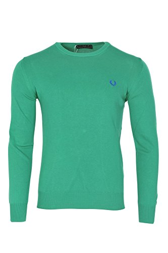 Fred Perry Suéter Hombre Verde Lana Casual XXXL