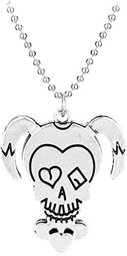YUNQIYZH Co.,ltd Collar de Joker, Collares con Colgante de Figura de Dibujos Animados Bonitos, Collar con Colgante, Regalo para niñas y niños