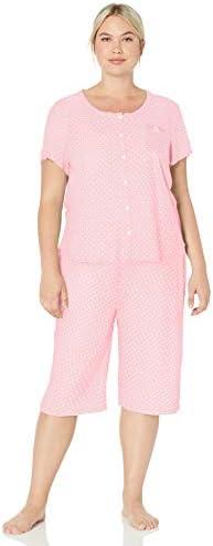 Karen Neuburger Women s Short Sleeve Cardigan Crop Pajama Set Pj Sprinkles Pink S product image