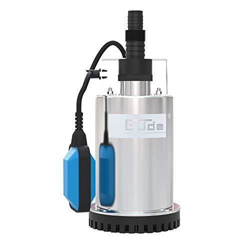 Güde 381056 GFS 4000 Flachsaugerpumpe GFS4000 INOX, 230 V, Schwarz, Blau, Edelstahl