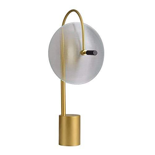 Palm kloset Casa Modelo de Dise?Ador Moderno Personalidad Creativa Sala de Estar Dormitorio mesita de Noche lámpara Transparente lámpara de Mesa de Vidrio 33 * 56 cm