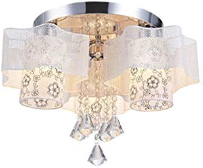 Deckenleuchten - - Runde Bügeleisen crystal romantischen ...