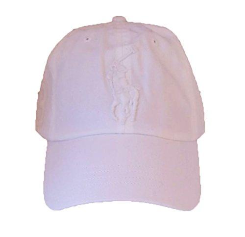 Polo Ralph Lauren Men Big Pony Logo Hat (White / White Pony)