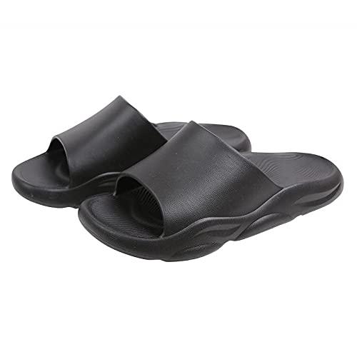 LLGG Zapatos de Playa Piscina Unisex Adulto,Zapatillas de baño de baño Suave, Desgaste Antideslizante Slippers Cool-Negro_42-43,Zapatillas Interior Piso