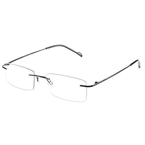Cyxus 100% Titan Blaulichtfilter Brille Ohne Stärke, Blockieren Blaue Licht von PC, TV und Handy, Anti UV400, Computerbrille (Schwarz 8602)