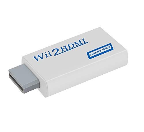 SOUTHSKY Wii a HDMI Convertitore Adattatore Supporta Tutte le Modalità di Visualizzazione Wii (NTSC 480i 480p, PAL 576i) Video e Audio da 3,5mm