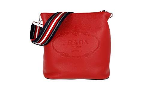Prada Damen Rot Leder Schultertasche 1BE023