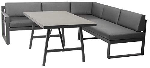 acamp Signature Lounge Set 3-teilig Aluminium mit Spraystone Tisch