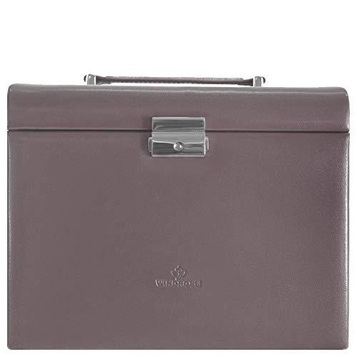 Windrose Merino Moda Schmuckkoffer mit integrierter Schmucktasche 26 cm taupe