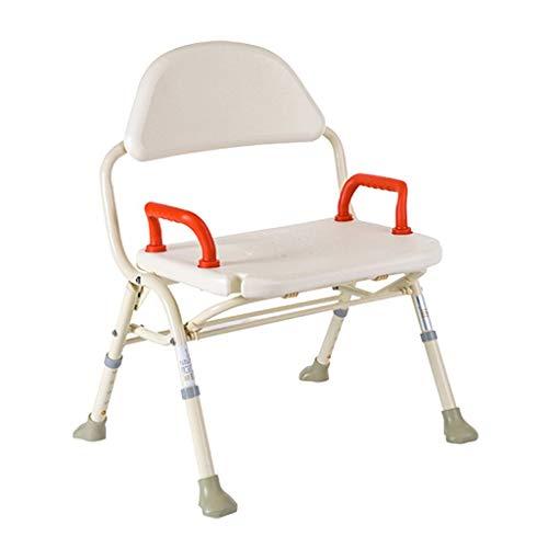 Yuany Deluxe Toiletstoel, in hoogte verstelbare aluminium badkamer-/douchestoel met rugleuning en douchekophouder, geschikt voor ouderen, zwangere vrouwen en gehandicapten.