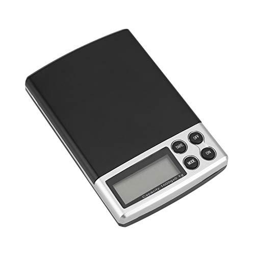 Báscula digital, 1 kg/0,1 g Pantalla LCD Electrónica de bolsillo digital Joyería Precisión de los alimentos Pequeña báscula portátil Mini balanza Herramienta de cocina Nueva báscula de cocina para el