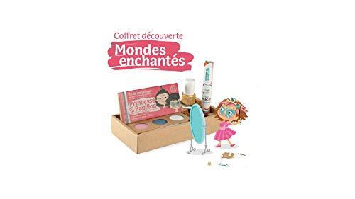 Namaki- Coffret découverte Mondes enchantés Kit 3 Princesse & Papillon - Vernis Or - Mascara cheveux rose